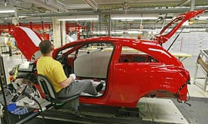 An Opel Corsa being assembled in Eisenach, Germany