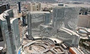 Aerial views of Las Vegas CityCenter complex