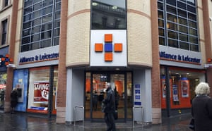 High street brands: A branch of Alliance & Leicester bank in Nottingham