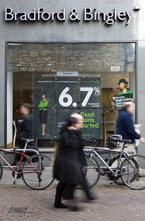 High street brands: The Edinburgh branch of The Bradford and Bingley Building Society