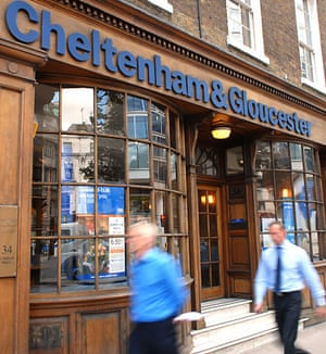 High street brands: People pass by a branch of Cheltenham & Gloucester in London