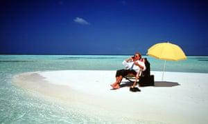 Workaholic beach