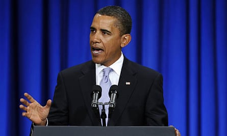 US president Barack Obama speaks about the global financial crisis at Federal Hall in New York