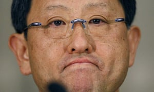 Toyota Motor Corp President Akio Toyoda attends a news conference in Tokyo