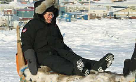 mervyn King on a sled