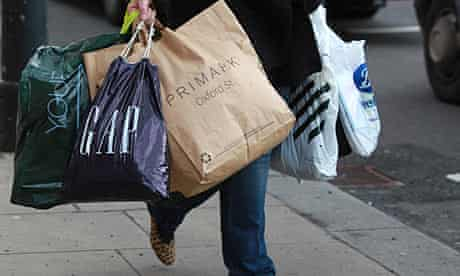 A shopper on Oxford Street, London