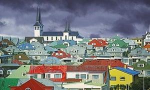 reykjavik under clouds