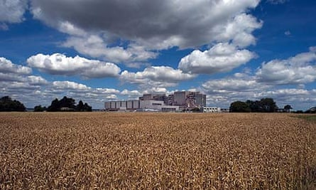 Bradwell nuclear power station in Essex