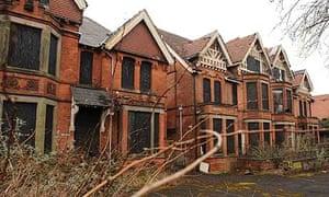 derelict houses in Anderton Park Road