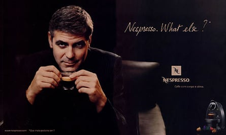 George Clooney in an advert for Nespresso