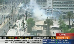 Greek protests: Bloomberg TV