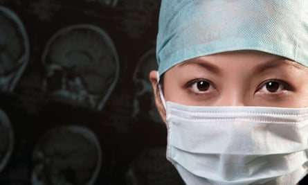 Female doctor facemask