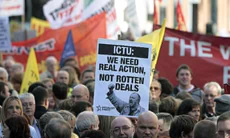Irish Trade Union protest