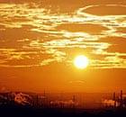 米德尔斯堡在日落时