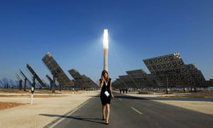 "The new ""Gemasolar"" solar power plant in Fuentes de Andalucia, Spain"