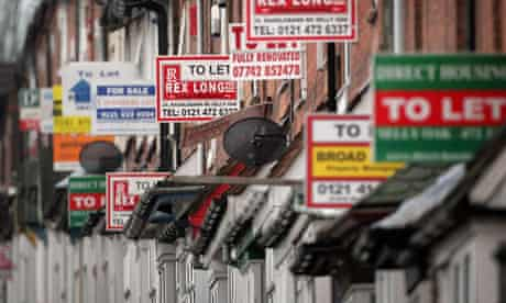 Housing to let signs, Birmingham