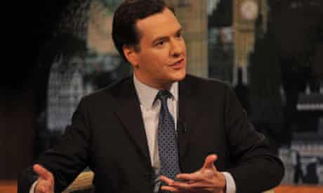 George Osborne appearing on the BBC's the Andrew Marr Show