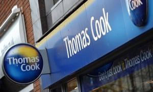 Exterior photo of a Thomas Cook high street shop
