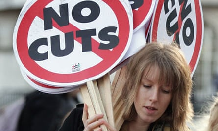 Female Public Sector Worker on strike with placard