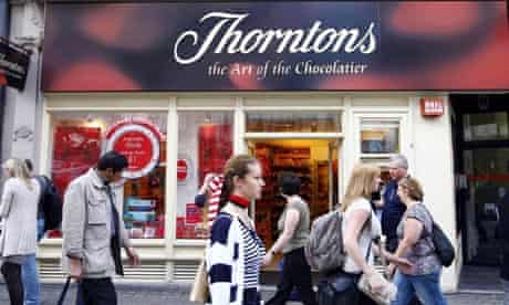 A Thorntons shop in Oxford Street