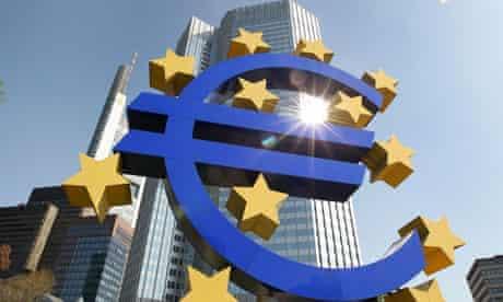 Exterior shot of European Central Bank in Frankfurt, Germany