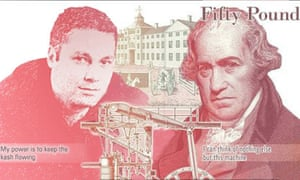 Duane Jackson on a £50 note