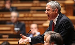 BE (left wing party) presents a motion of non-confidence at Portuguese parliament