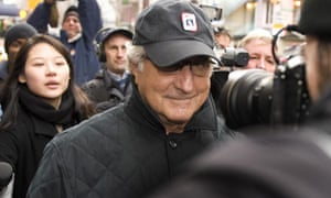 Bernard L Madoff in 2008 before going to prison