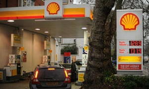 A Shell petrol station in London