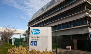 Pfizer's factory and lab in Sandwich, which is closing down with the loss of 2,400 jobs.