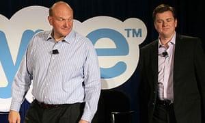 Microsoft's Steve Ballmer and Skype's Tony Bates
