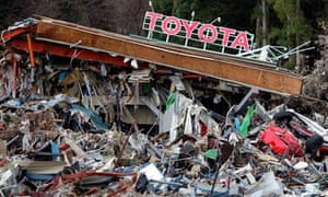 Toyots dealership after earthquake and tsunami