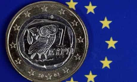 One euro coin/eurozone crisis