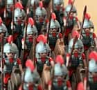 Playmobil toy Romans at the Exhibition of Roman Remains in Haltern, Germany