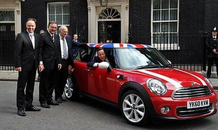 David Cameron welcomes Mini investment
