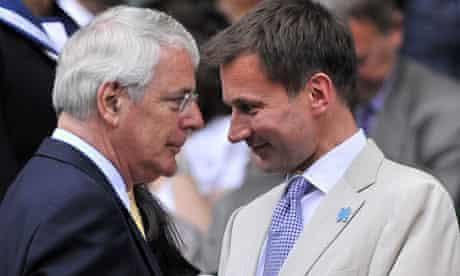 John Major and Jeremy Hunt