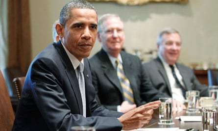 Barack Obama, John Boehner, Mitch McConnell, Dick Durbin discuss the US debt, 13 July 2011