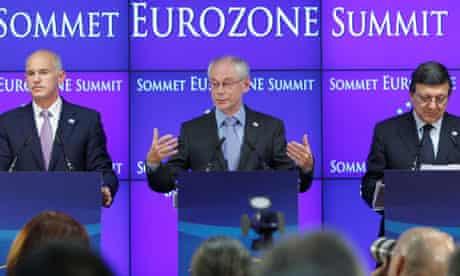 George Papandreou, Herman Van Rompuy, Jose Manuel Barroso