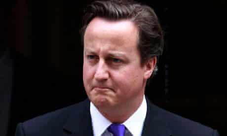 David Cameron outside Downing Street on 20 July