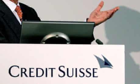 CEO Brady Dougan of Swiss bank Credit Suisse