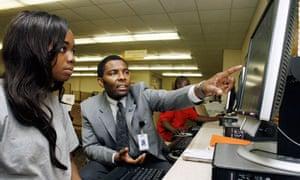 US job applications (Tuskie Sanders, right, and Renita Manny Williamson)