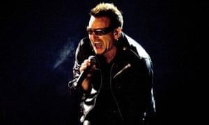 U2 front man Bono at Glastonbury, 2011