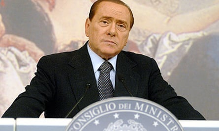Italian Prime Minister Silvio Berlusconi after cabinet press conference, 22 July 2011