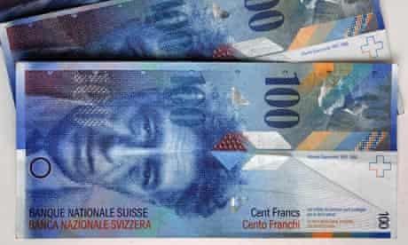 Swiss Francs banknotes