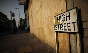 High street in Croydon