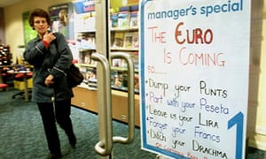 Republic of Ireland switches from the punt to the euro on 1 January, 2002