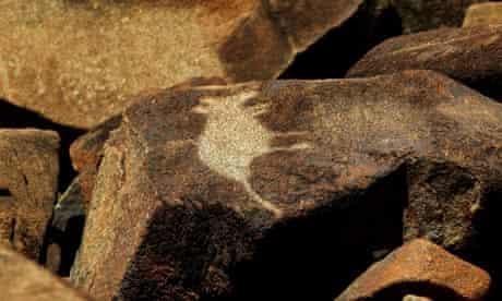 Kangaroo rock art