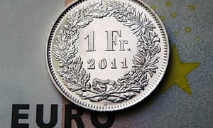 The Swiss franc has been rising against the euro – hurting exports and tourism