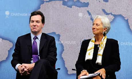 George Osborne and Christine Lagarde at Chatham House