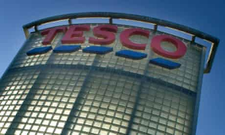 Tesco sign on building